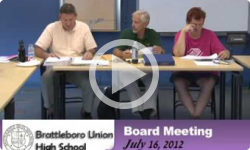 Brattleboro Union High School Bd. Mtg. 7/16/12