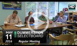 Dummerston Selectboard Mtg 5/11/16