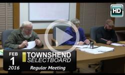 Townshend Selectboard Mtg 2/1/16