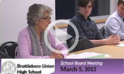 Brattleboro Union High School Board Mtg. 3/5/12
