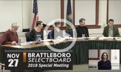 Brattleboro Selectboard Mtg 11/27/18