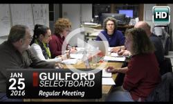 Guilford Selectboard Mtg 1/25/16