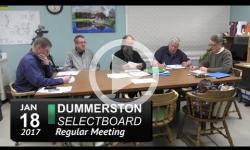 Dummerston Selectboard Mtg 1/18/17