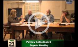 Putney Selectboard Mtg 4/23/14