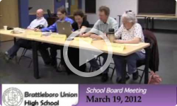 Brattleboro Union High School Bd. Mtg. 3/19/12