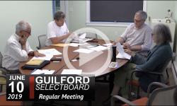 Guilford Selectboard Mtg 6/10/19