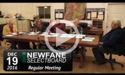 Newfane Selectboard Mtg 12/19/16