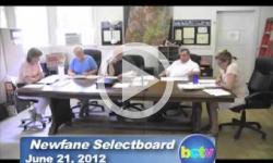 Newfane Selectboard Mtg. 6/21/12