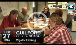 Guilford Selectboard Mtg 6/27/16