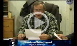 Newfane Selectboard Mtg. 12/5/13