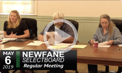 Newfane Selectboard Mtg 5/6/19