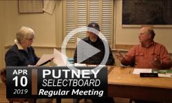 Putney Selectboard Mtg 4/10/19