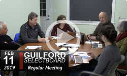 Guilford Selectboard Mtg 2/11/19