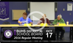 BUHS School Board Mtg 10/17/16