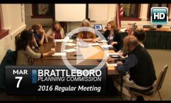 Brattleboro Planning Commission Mtg 3/7/16
