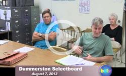 Dummerston SB Mtg. 8/7/13
