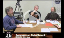 Dummerston Selectboard Mtg. 11/26/13