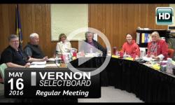 Vernon Selectboard Mtg 5/16/16