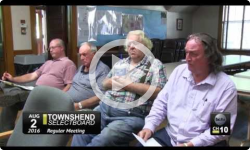 Townshend Selectboard Mtg. 8/1/16