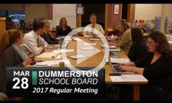 Dummerston School Bd Mtg 3/28/17