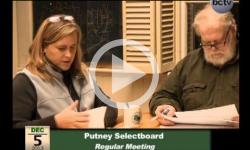 Putney Selectboard Mtg. 12/4/13