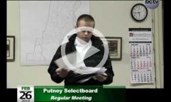 Putney Selectboard Mtg. 2/26/14