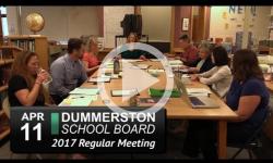 Dummerston School Bd Mtg 4/11/17