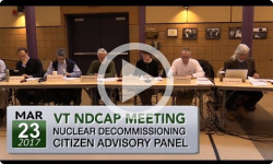VT Nuclear Decommissioning Citizens Advisory Panel 3/23/17