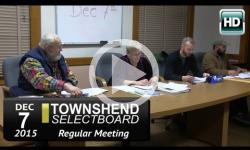 Townshend Selecboard Mtg 12/7/15