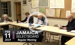 Jamaica Selectboard Mtg 2/11/19
