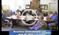 Newfane Selectboard Mtg 6/20/13