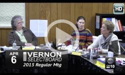 Vernon Selectboard Mtg 4/6/15