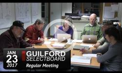 Guilford Selectboard Mtg 1/23/17