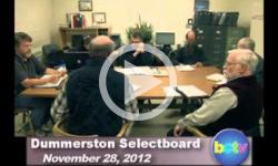 Dummerston SB Mtg. 11/28/12
