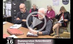Dummerston SB Mtg. 10/16/13