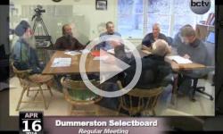 Dummerston Selectboard Mtg. 4/16/14