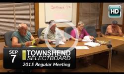 Townshend Selectboard: 9/7/15
