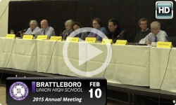Brattleboro High School Bd Annual Mtg 2/10/15
