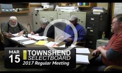 Townshend Selectboard Mtg 3/15/17