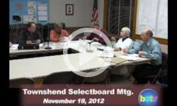 Townshend Selectboard Mtg. 11/19/12