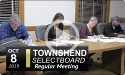 Townshend Selectboard Mtg 10/8/19