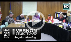 Vernon Selectboard Mtg 3/21/16