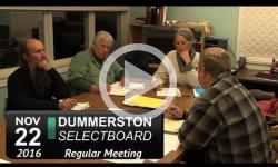 Dummerston Selectboard Mtg 11/22/16