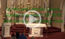 Mass from Sunday, September 29, 2019