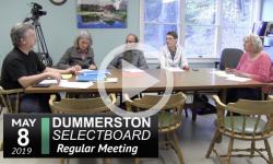 Dummerston Selectboard Mtg 5/8/19