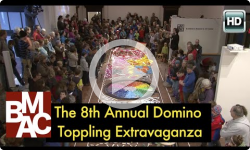 8th Annual Domino Toppling Extravaganza at BMAC