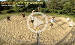 Chester Volleyball League: Tate's Tots v. The Setting Ducks