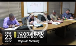 Townshend Selectboard Mtg 5/23/17