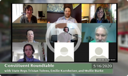 Community Forum: With VT State Reps Tristan Toleno, Emilie Kornheiser, and Mollie Burke 5/16/20