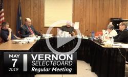 Vernon Selectboard Mtg 5/7/19